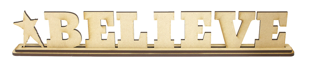 Believe Standing Letters Set with Base