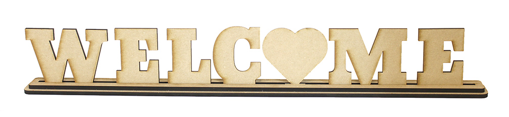 Welcome Standing Letters Set with Base