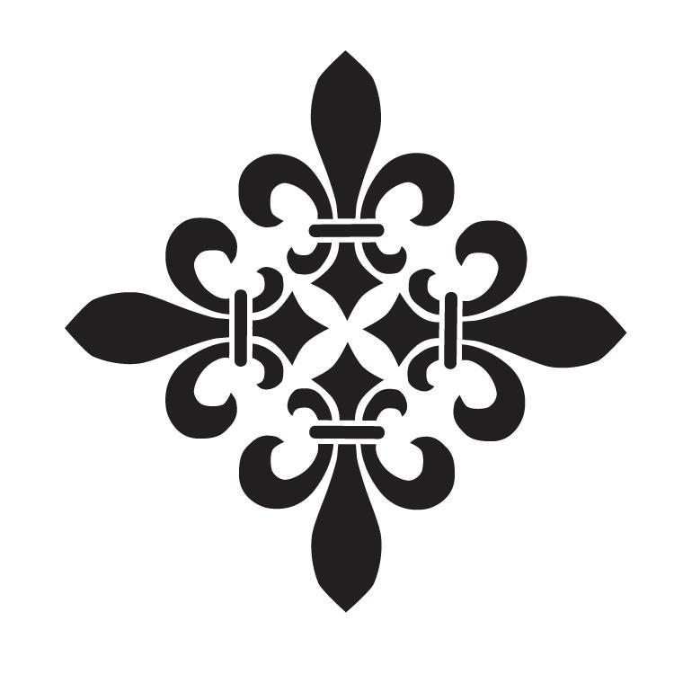 "Fleur De Lis Diamond - Versailles - Art Stencil -12"" x 12"" - STCL1220_4 by StudioR12"