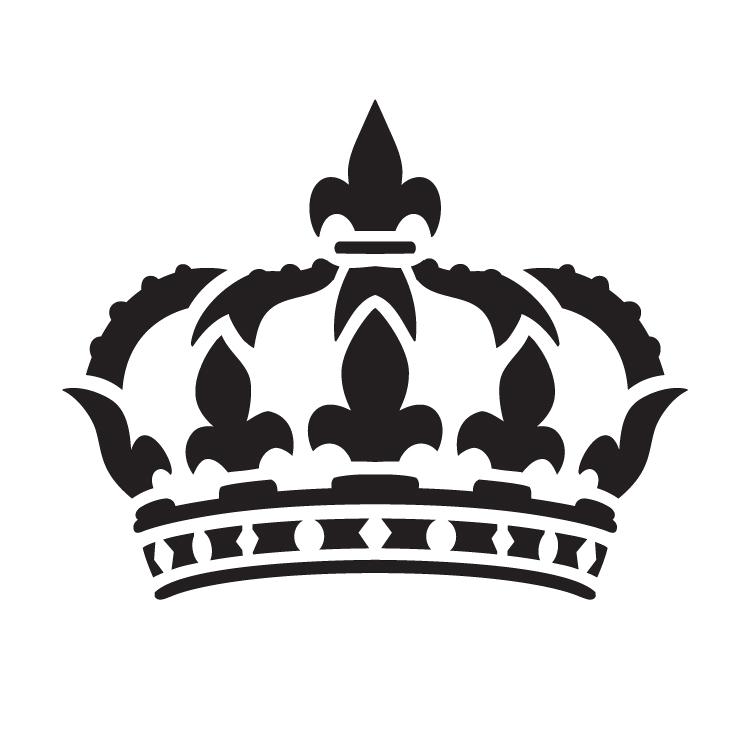 "Queens Crown - Art Stencil - 15"" x 15"" - STCL1126_4 by StudioR12"