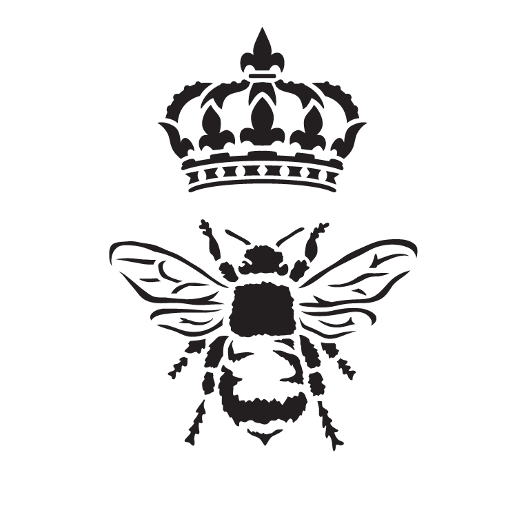 "Queen Bee - Art Stencil - 9"" x 9"" - STCL1130_2 by StudioR12"