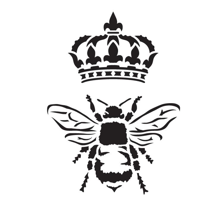 "Queen Bee - Art Stencil - 15"" x 15"" - STCL1130_4 by StudioR12"