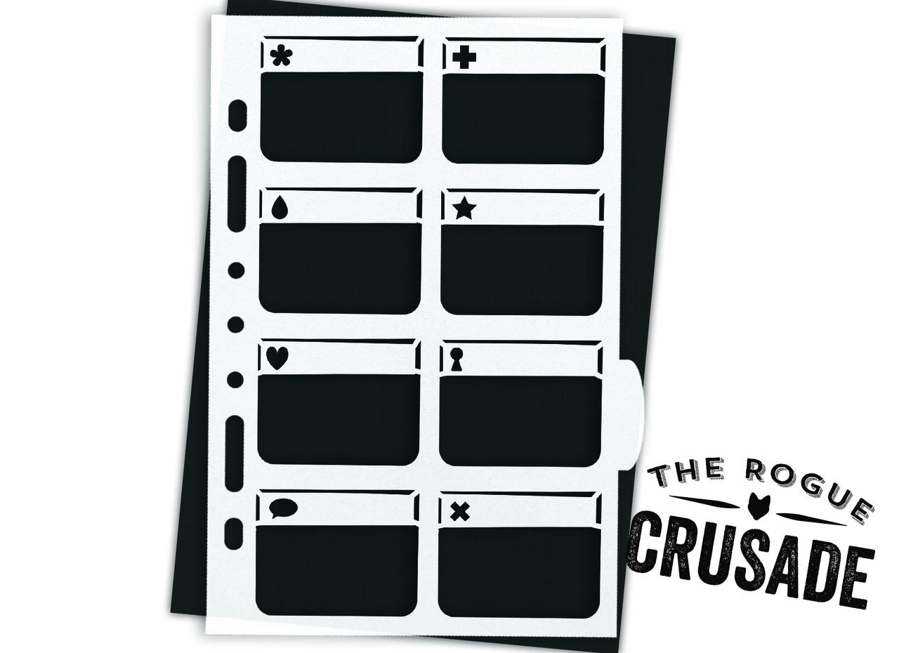 Icon Boxes Planner Stencil