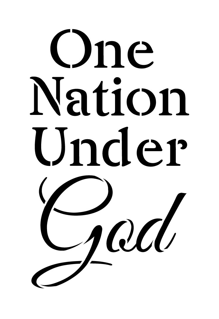 "One Nation Under God - Word Stencil - 5.5"" x 8"" - STCL1246_1 by StudioR12"