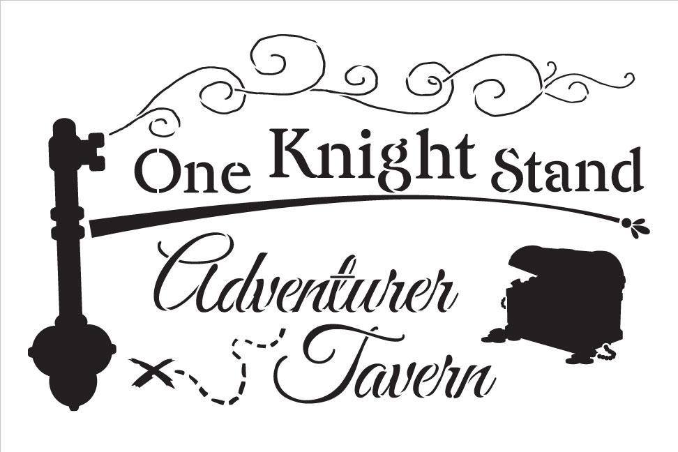 """One Knight Stand - Art Stencil - 13.5"""" x 9"""" - STCL1248_1"""