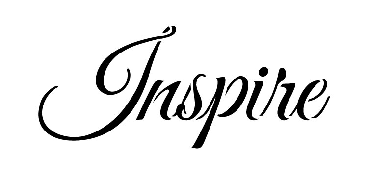 "Inspire - Word Stencil - 6"" x 3"" - STCL1238_1"