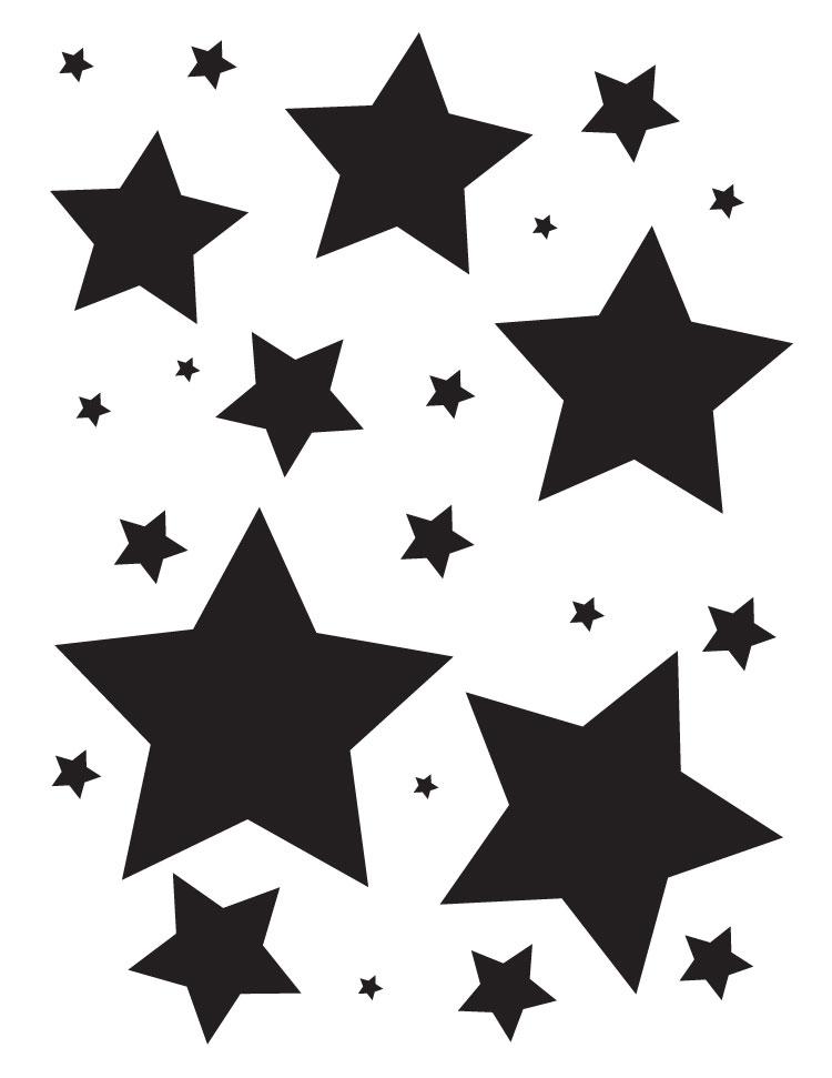 """Simple Stars - Art Stencil - 8.5"""" x 11"""" by StudioR12"""