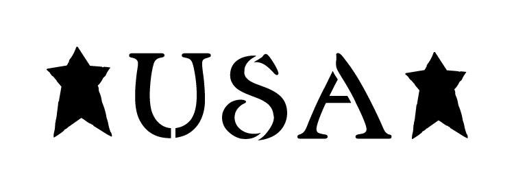 "USA - Vintage Serif - Word Stencil -  18"" x 6"" - STCL1257_4 by StudioR12"