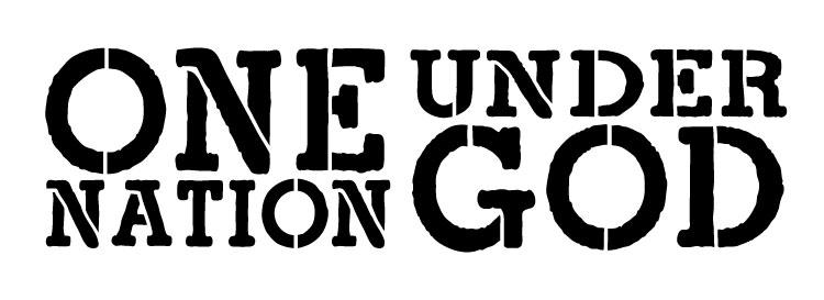 """One Nation Under God - Modern Grunge - Word Stencil -  16.5"""" x 6"""" - STCL1253_2 by StudioR12"""