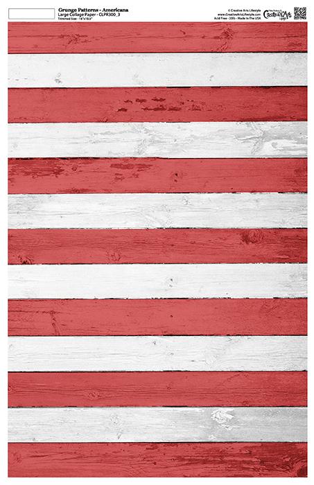 "Grunge Textures - Americana - Collage Paper - 11"" x 17"" (10.5"" x 16.25"" artwork area)"