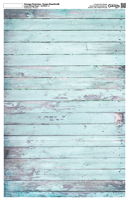 "Grunge Textures - Ocean Boardwalk -11"" x 17"""