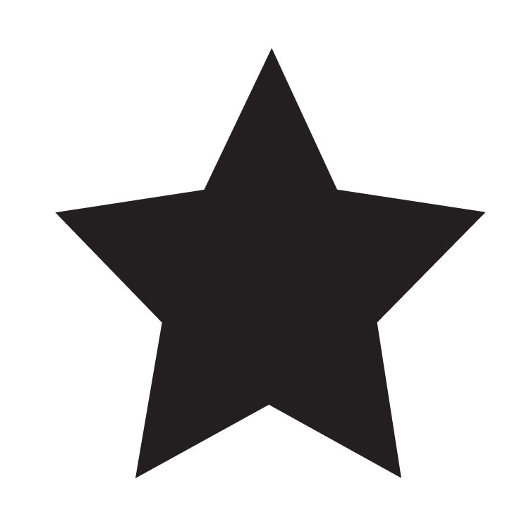 "Simple Single Star - Art Stencil - 4"" x 4"" - STCL1259_1 by StudioR12"