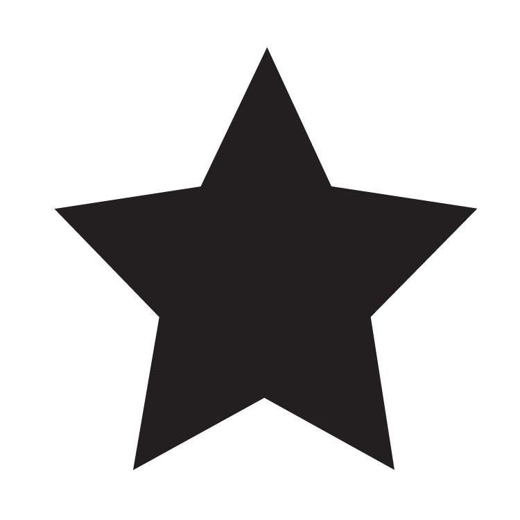 "Simple Single Star - Art Stencil - 6"" x 6"" - STCL1259_2 by StudioR12"