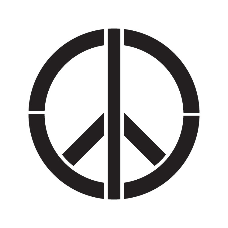 "Peace Sign - Art Stencil - 12"" x 12"" - STCL1260_4 by StudioR12"