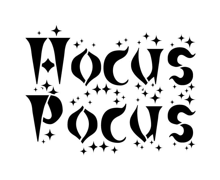 "Hocus Pocus - Word Stencil - 7 1/2"" x 6"" - STCL1273_2 by StudioR12"