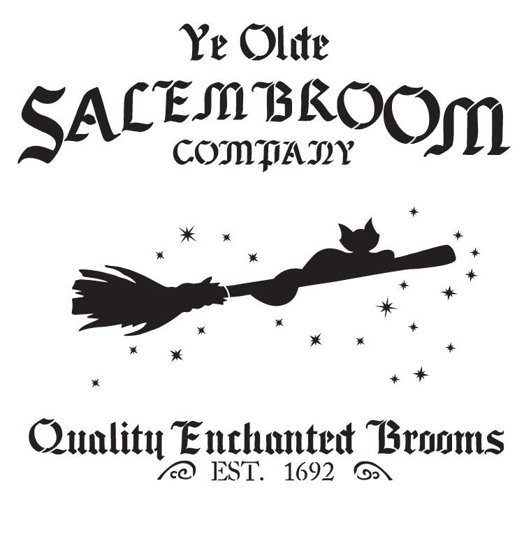 """Salem Broom Co. - Word Art Stencil - 12 1/2"""" x  12 3/4"""" - STCL1281_1 by StudioR12"""