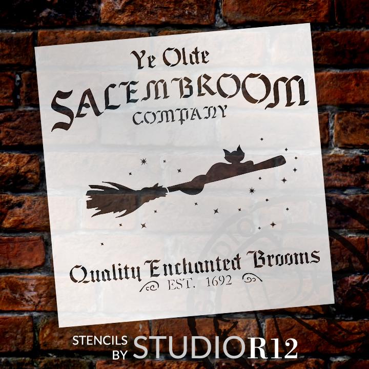 """Salem Broom Co. - Word Art Stencil - 15"""" x  15 1/2"""" - STCL1281_2 by StudioR12"""