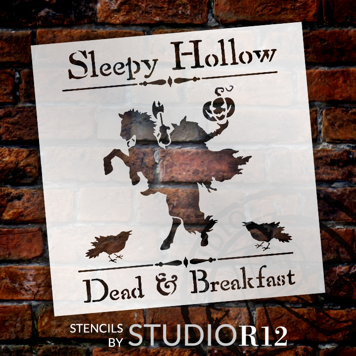 "Sleepy Hollow Dead & Breakfast  - Word Art Stencil - 15"" x 15"" -STCL1284_3 by StudioR12"