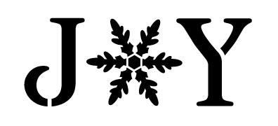 """Joy - Vintage Serif w/ Snowflake -  Word Stencil - 17"""" x 8.5"""" - STCL1262_4 by StudioR12"""