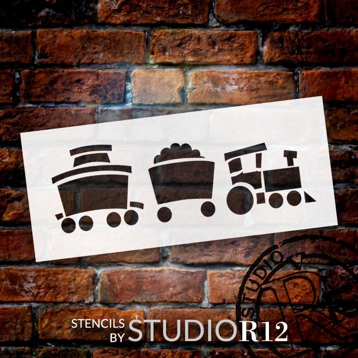 "Toy Train - Art Stencil - 10.5"" x 4.5"" - STCL1266_2 by StudioR12"