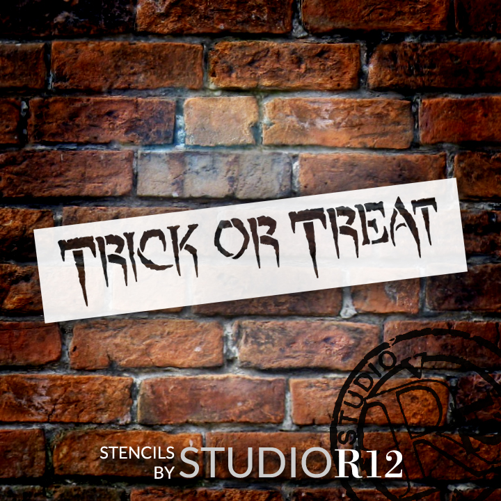 "Trick Or Treat - Creepy - Word Stencil - 13 1/2"" x 3 "" - STCL1295_2 by StudioR12"