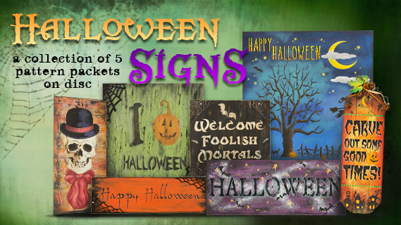 Halloween Signs Digital Packet Collection on Disc