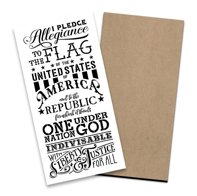 Pledge of Allegiance Stencil + Surface