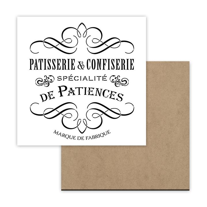 Patisserie & Confiserie Stencil + Surface