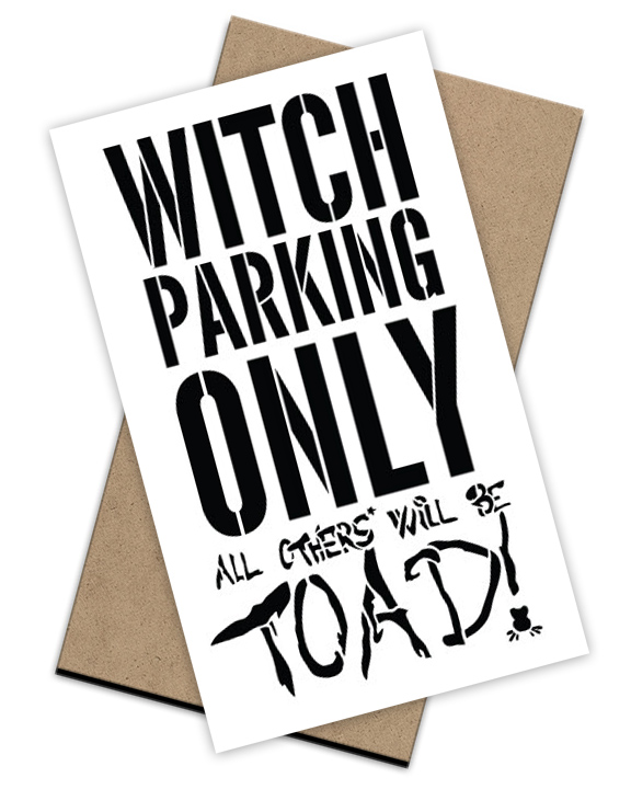 Witch Parking Stencil + Surface