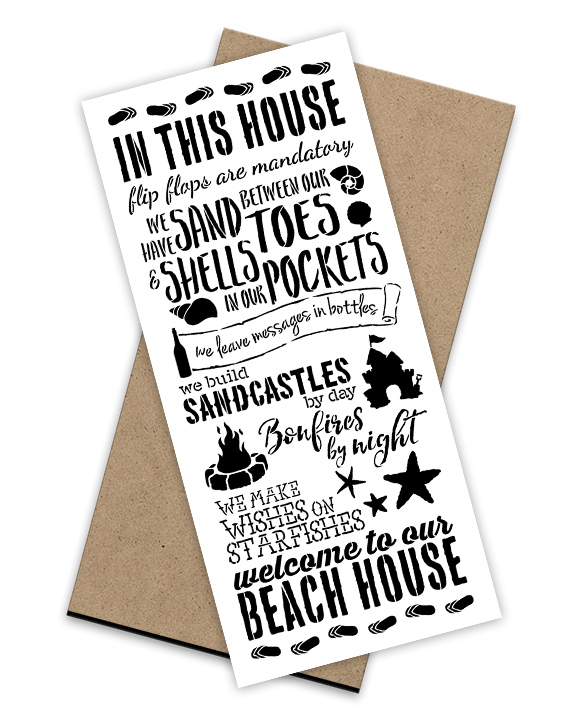 In This Beach House Stencil + Surface