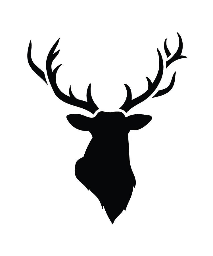 """Big Buck - Art Stencil - 7 1/2"""" x 9"""" - STCL1285_2 by StudioR12"""