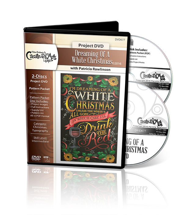 Dreaming of a White Christmas - DVD and Pattern Packet - Patricia Rawlinson