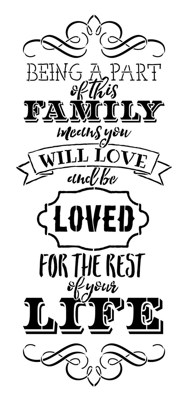 "Part of this Family Word Art Stencil  - 25"" X 12"""