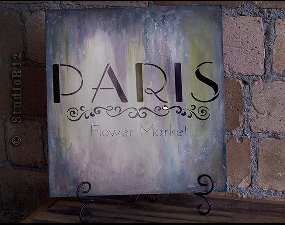 Paris Flower Market - Sign Stencil - STCL1299_2