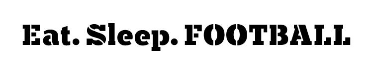 "Eat, Sleep Football - Word Stencil - 10"" x 2"" - STCL1321_1 by StudioR12"