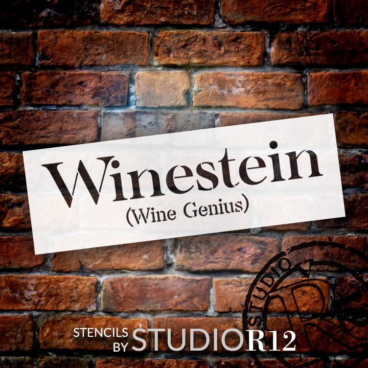 """Winestein - Word Stencil - 13 1/2"""" x 4 1/2"""" - STCL1328_2 by StudioR12"""