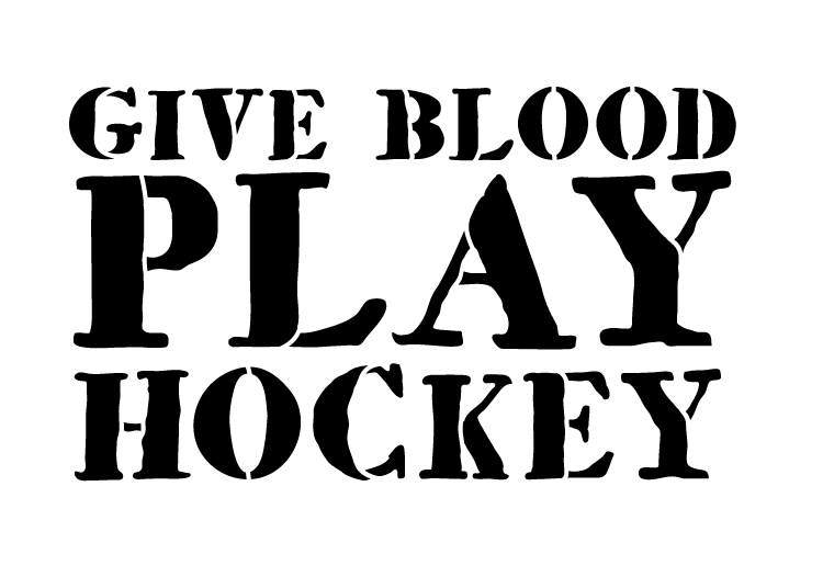 """Give Blood, Play Hockey - Word Stencil - 10 1/2"""" x 7 1/2"""" - STCL1329_2 by StudioR12"""