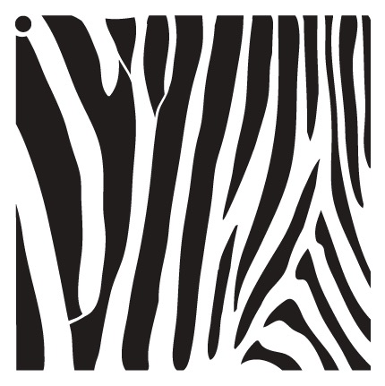 "Zebra Stripes - Pattern Stencil - 15"" x 15"" - STCL633_4 - by StudioR12"