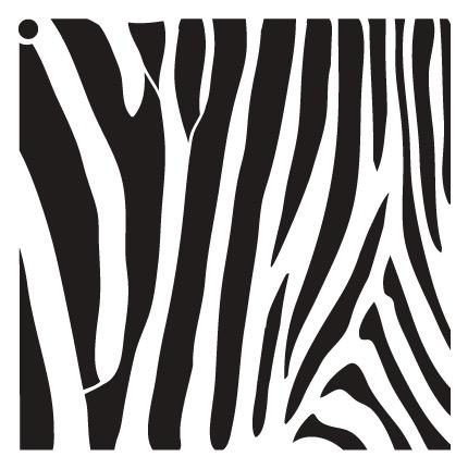 "Zebra Stripes - Pattern Stencil - 18"" x 18"" - STCL633_5 - by StudioR12"