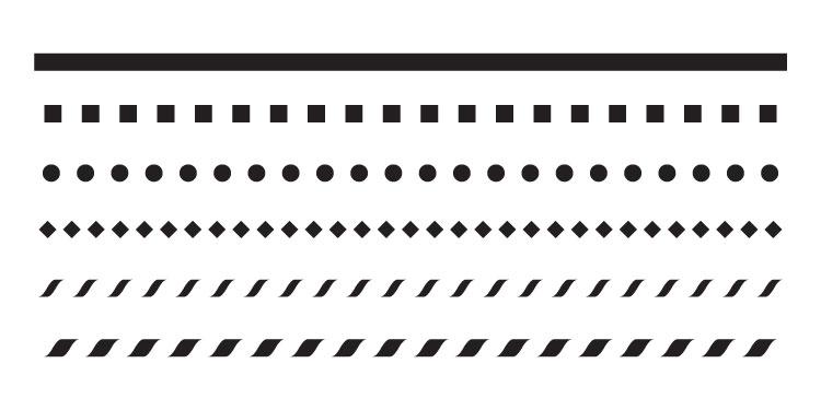 "1/4"" Line Pattern Stencil - 12"" x 6"" - STCL681_2"