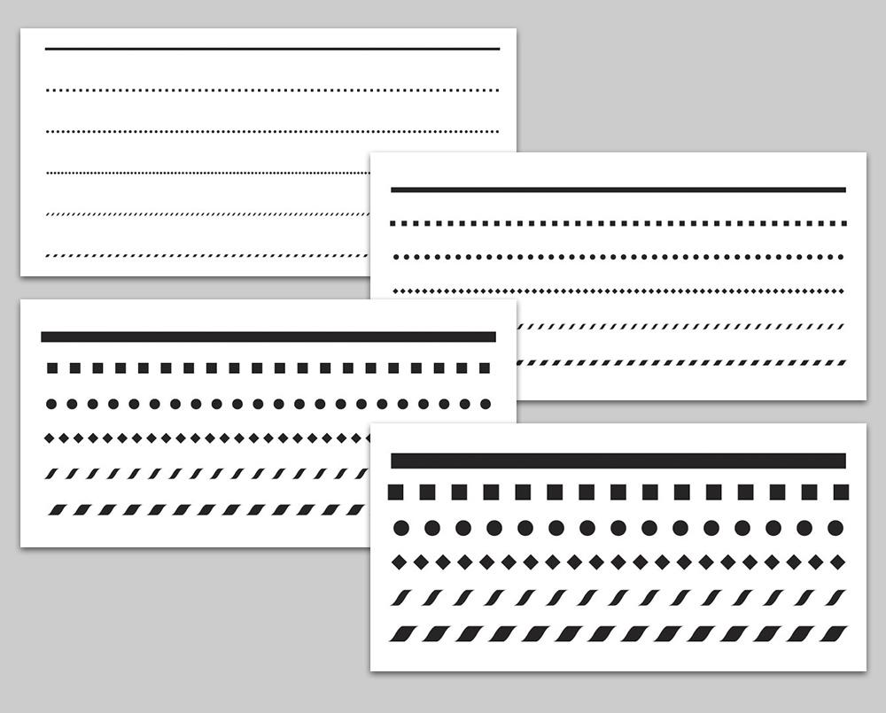 """12"""" x 6""""  Banding Stencil Set"""