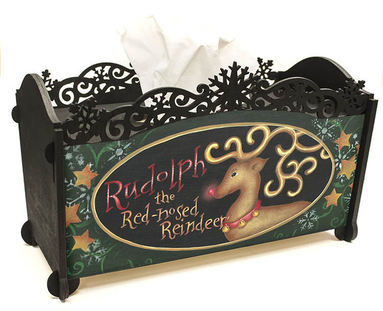 Rudolph and Friends Tissue Box Pattern Packet - Patricia Rawlinson