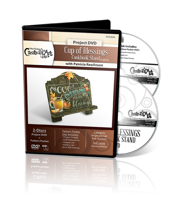 Cup of Blessings Cookbook Stand DVD and Pattern Packet - Patricia Rawlinson