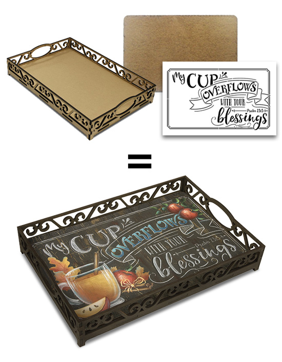 Cup of Blessings Anyway Tray Project Set