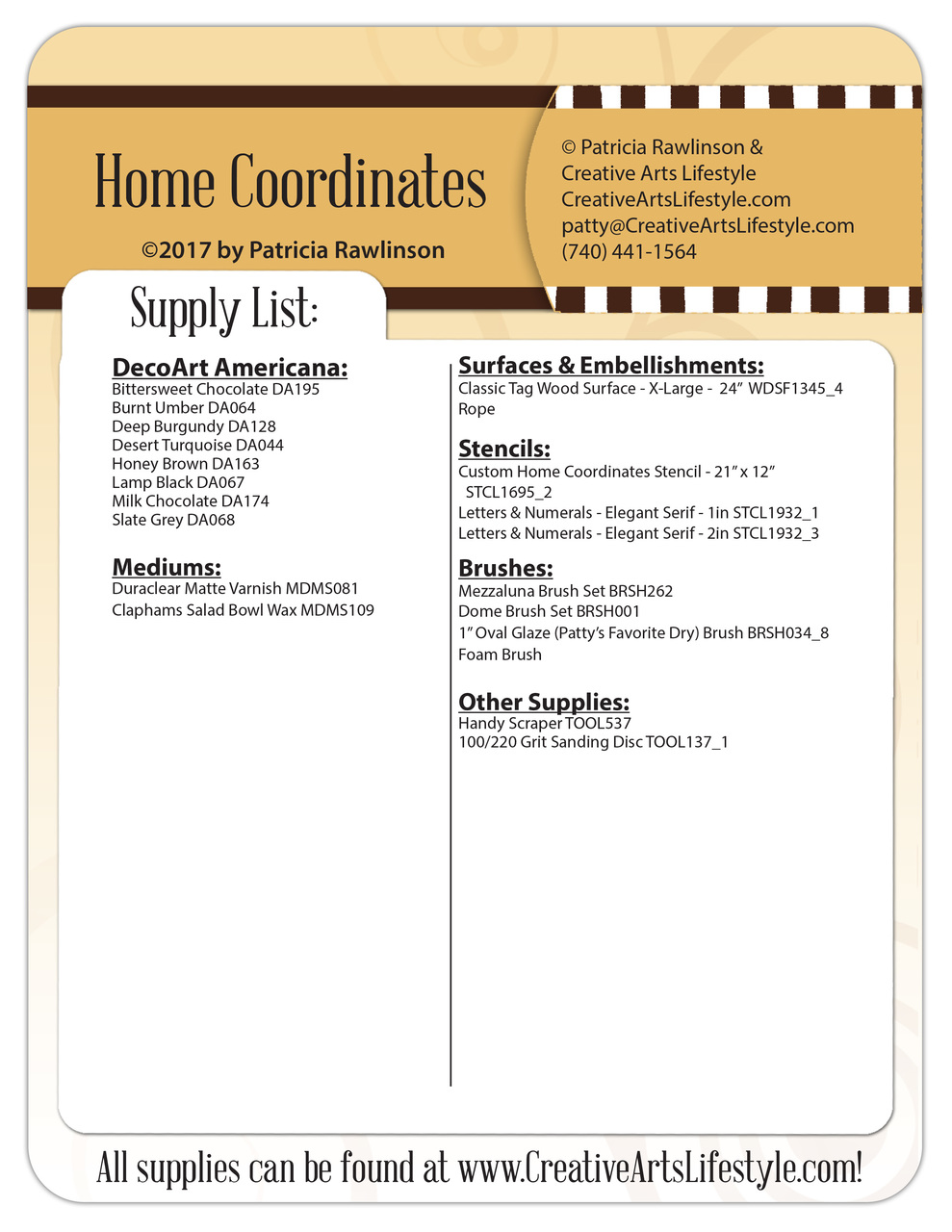 Home Coordinates - E-Packet - Patricia Rawlinson