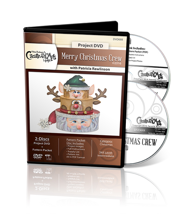 Merry Christmas Crew - DVD and Pattern Packet - Patricia Rawlinson