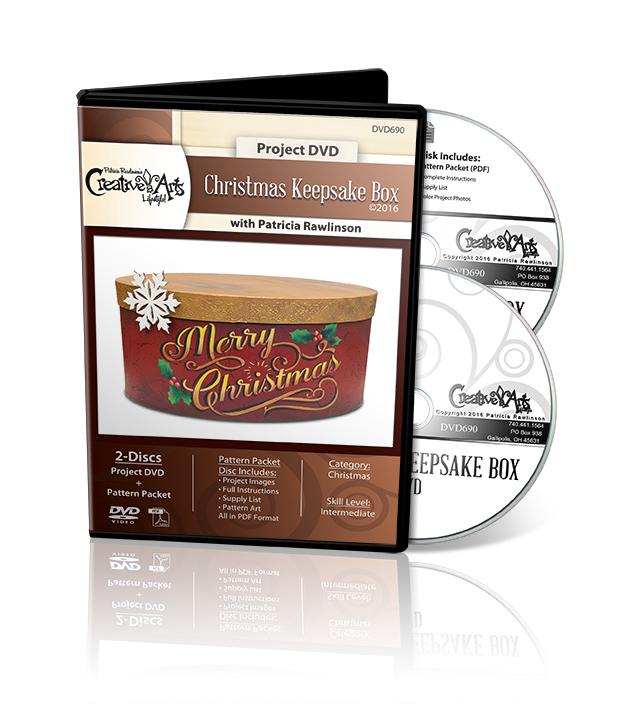 Christmas Keepsake Box - DVD and Pattern Packet - Patricia Rawlinson