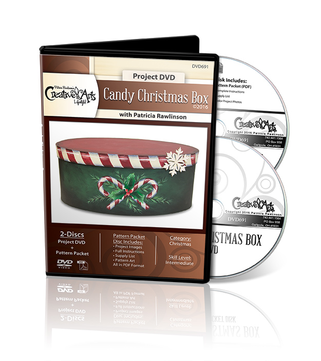 Candy Christmas Box - DVD and Pattern Packet - Patricia Rawlinson