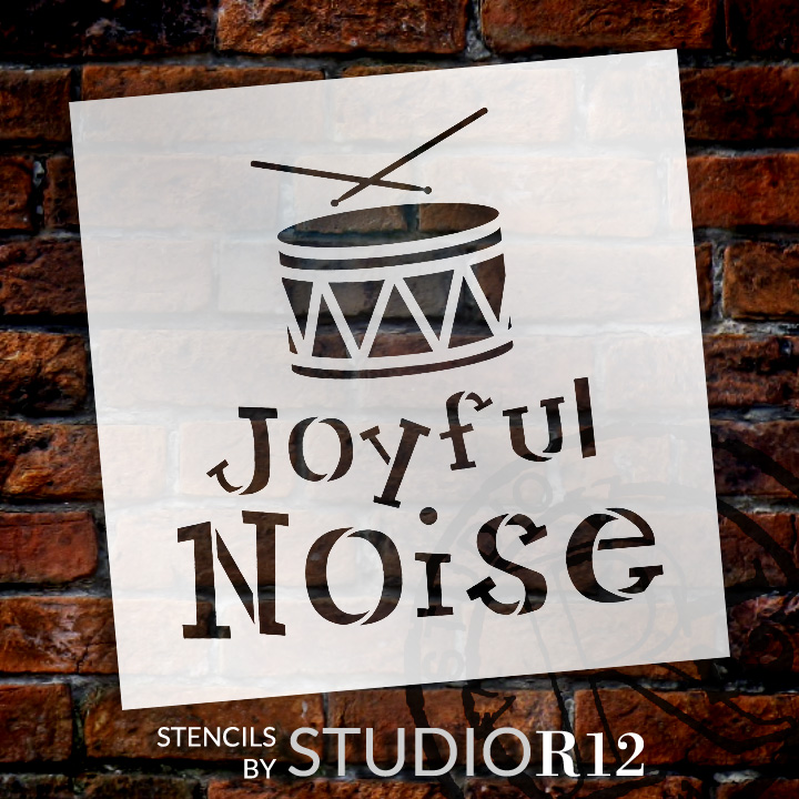 """Joyful Noise - Word Art Stencil - 9"""" x 9"""" - STCL1368_2 by StudioR12"""