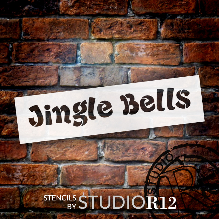 Jingle Bells Christmas Stencil - Select Size - STCL1372_1 - by StudioR12